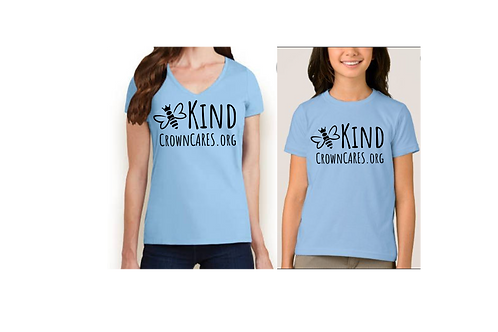 Queen Bee Kind Crown CARES Tee Shirt