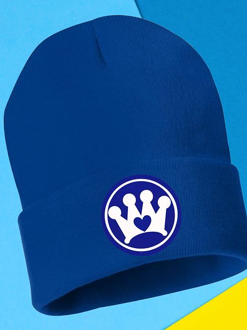 12 inch Royal Blue Beanie CC logo
