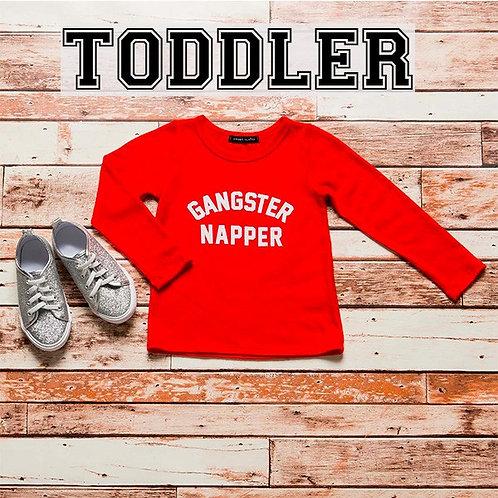 Gangster Napper - Toddler Holiday Shirt