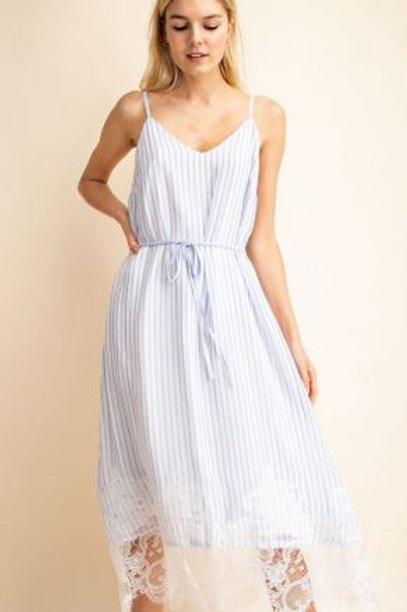 Lace Bottom Slip Dress