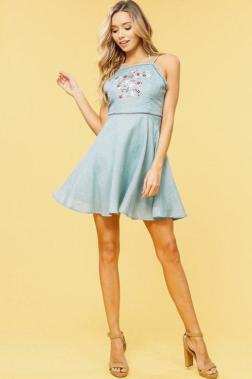 Double Strap Apron Dress