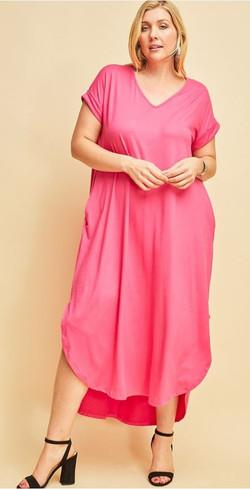 T-Shirt Maxi - Hot Pink