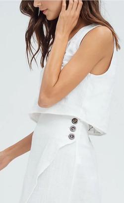 Julia Over-Wrap Linen Set