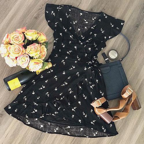 Wrapped & Ruffled Dress