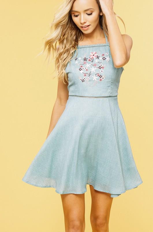 Sage Apron Dress