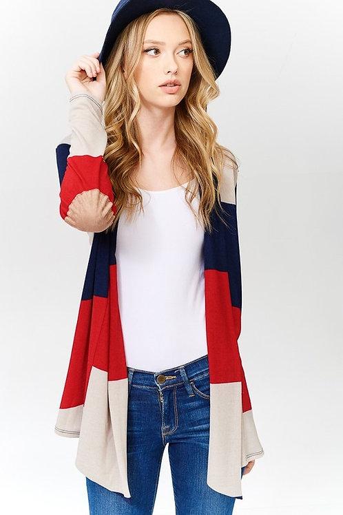 Multi Stripe Kimono Cardigan