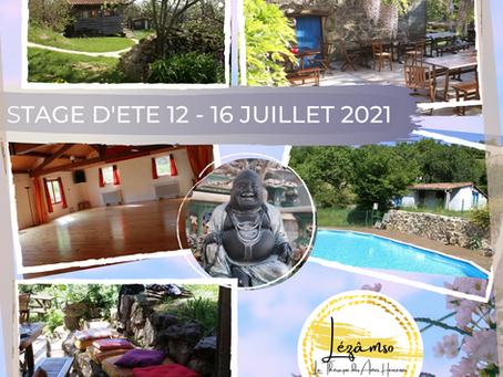 STAGE D'ETE 12 au 16 JUILLET 2021 - Les Infos