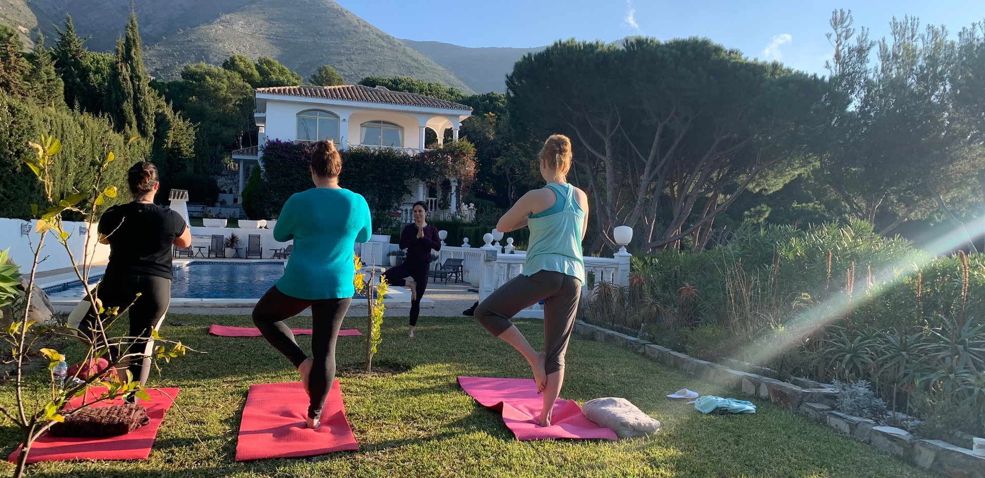 Morning Yoga class at the villa