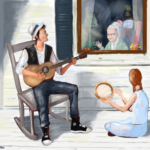 Music from the front porch