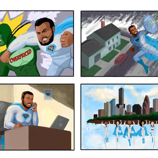 Comic for insurance company