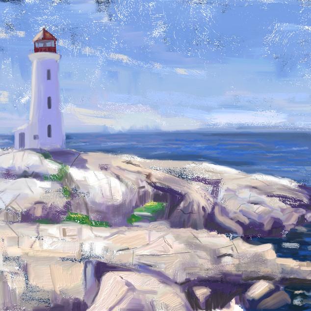 Seascape and lighthouse design