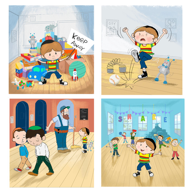 Illustrations for a children's book