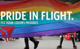 Delta Airlines celebrates Pride