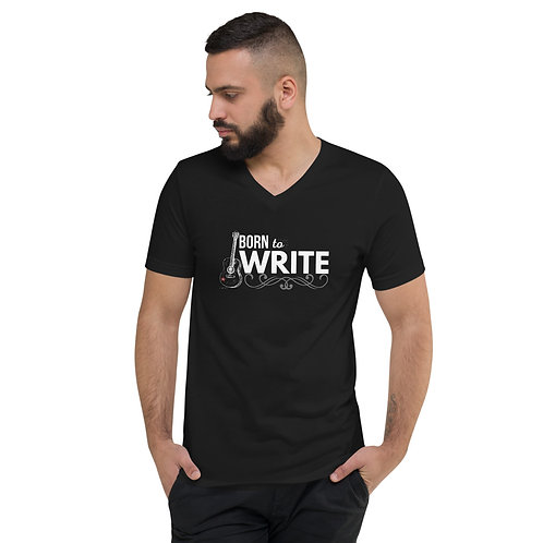 """""""Born To Write"""" Songwriter Men's Short Sleeve V-Neck T-Shirt"""