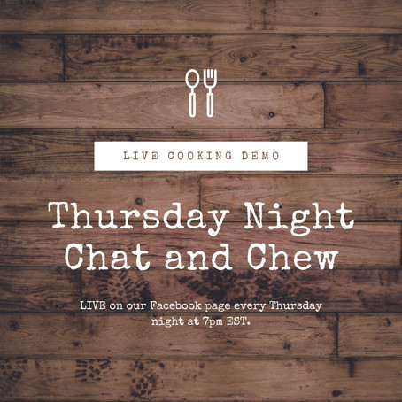 Thursday Night 'Chat and Chew'!