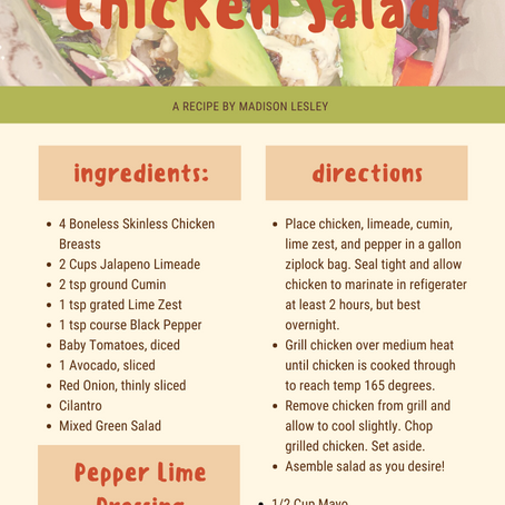Thursday Night Chat and Chew-(06/25/2020) Margarita Chicken Salad