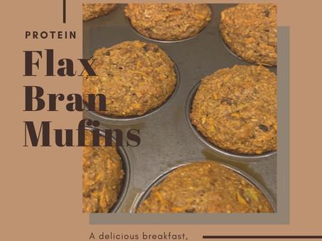 Protein Flax Bran Muffins