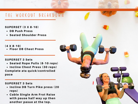 An upper body session that's sure to leave you SHAKING and sore!