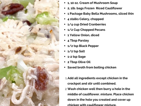 Low Carb Southern Chicken and Dressin'