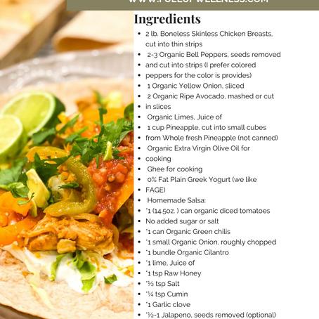 Healthy Pineapple Chicken Fajitas