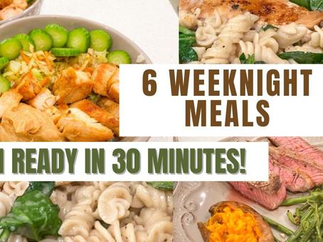 A week of simple dinners