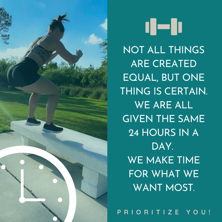Make time for what you want most!