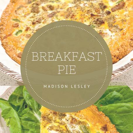 A delicious breakfast pie recipe!