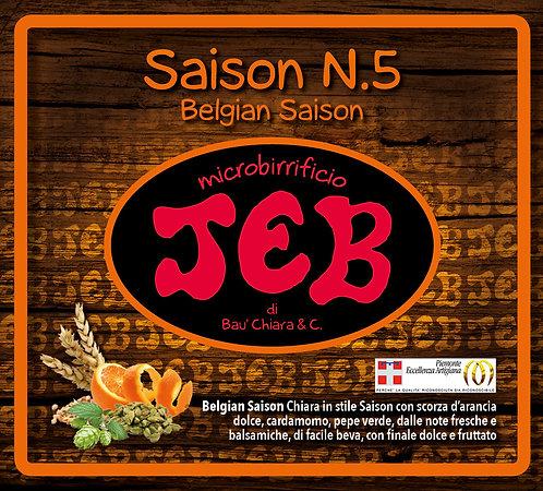 Saison n. 5 Belgian Saison alc. vol. 5.6% 50cl