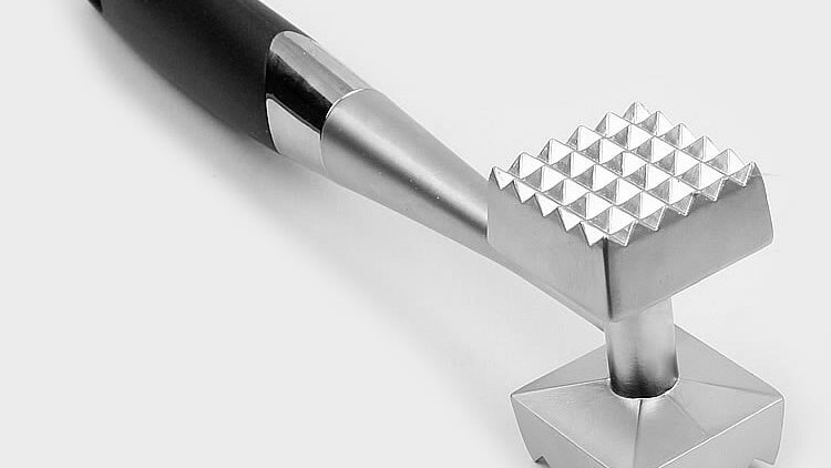 Stainless Steel Meat Tenderizer, Kitchen Cooking  Hammer