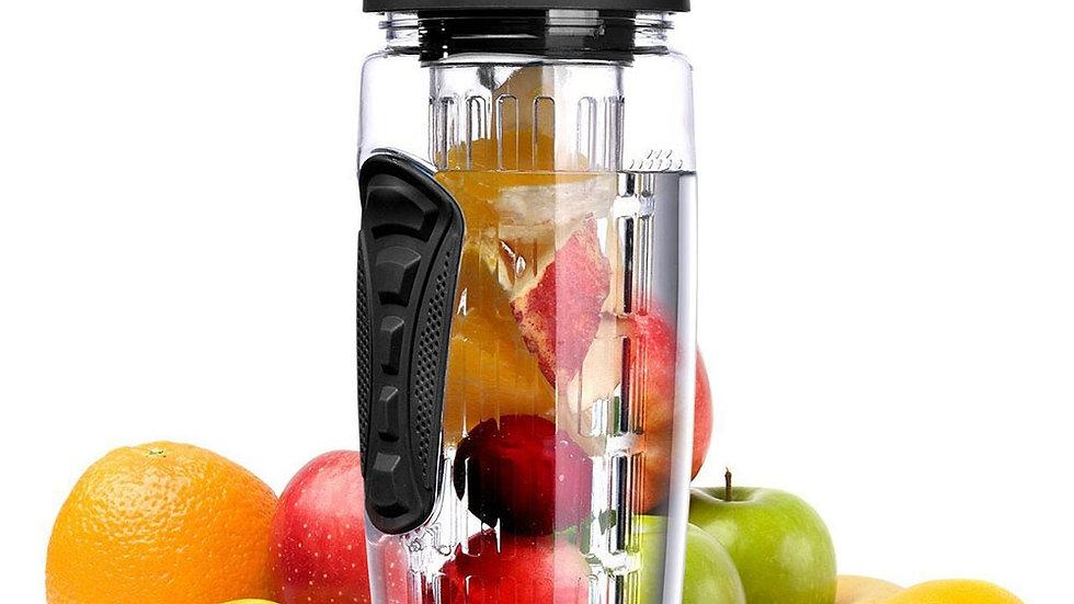 32oz  BPA Free Fruit Infuser, Juice Shaker, Sports Water Bottle, Camp Bottles