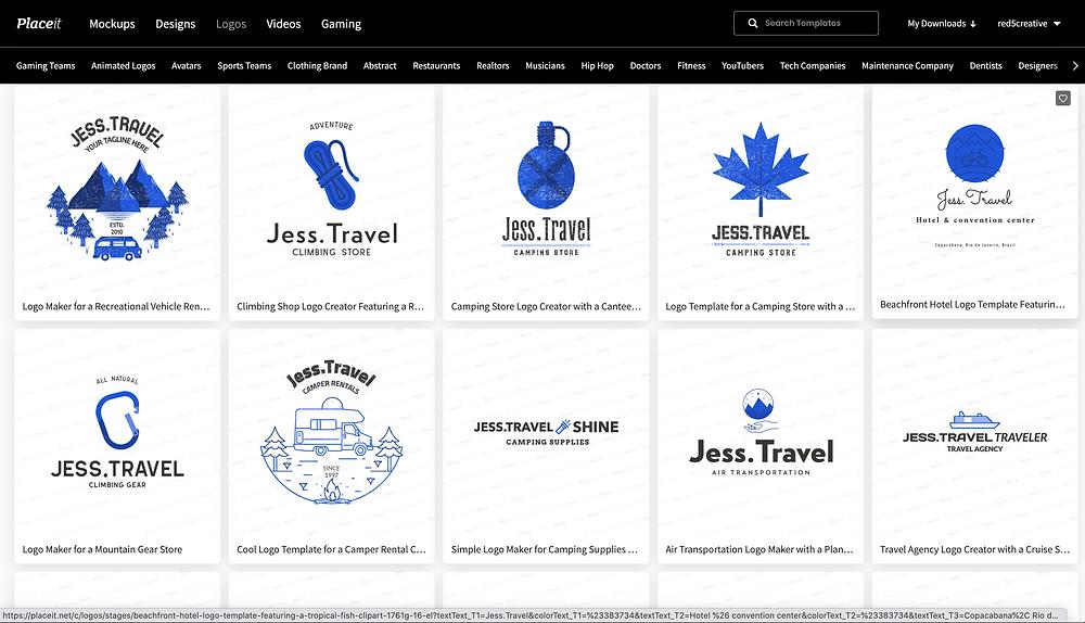travel planner logo, jess.travel, logo for a travel agency
