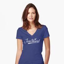 independent travel planner-fitted-v-neck-t-shirt.jpg