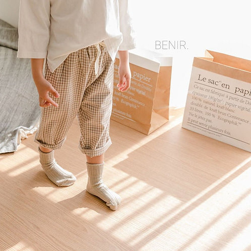 Cotton Easy Pants - Coco Gingham