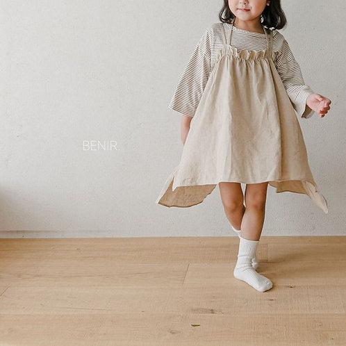 Cotton Midi Dress - Oatmeal
