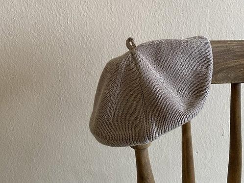Summer Knit Beret - Mocha