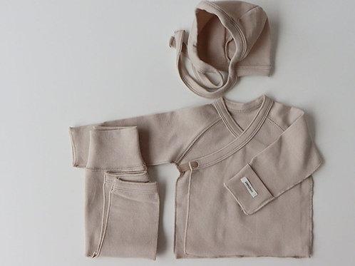 Polpol Kimono Bonnet set, Beige