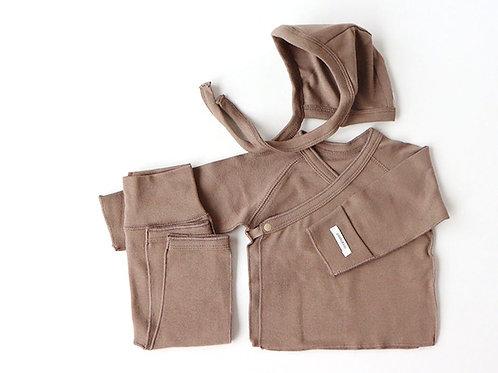 Polpol kimono bonnet set, Cocoa