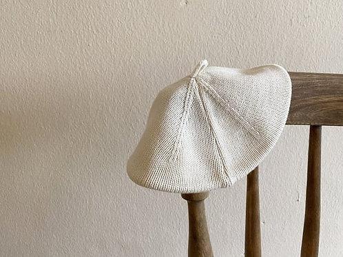 Summer Knit Beret - Cream