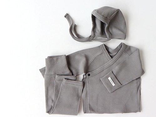 Polpol kimono bonnet set, Gray
