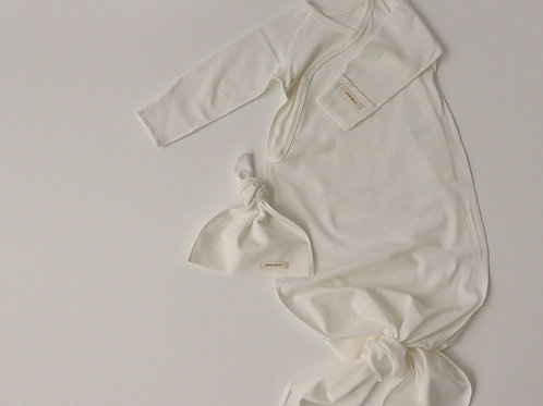 Kimono knotted gown set, Ivory