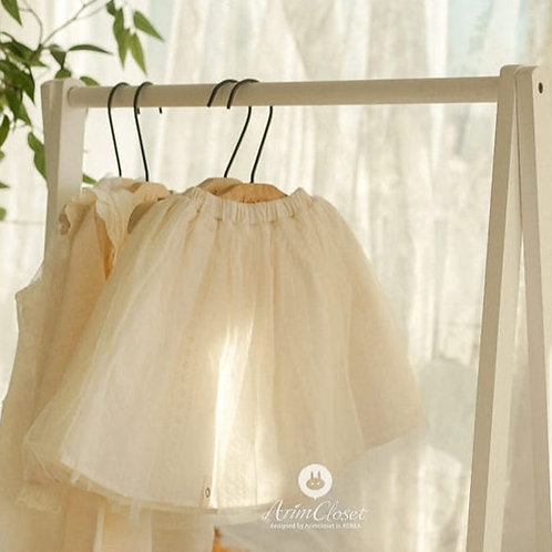 Cotton Lace & Tulle Skirt