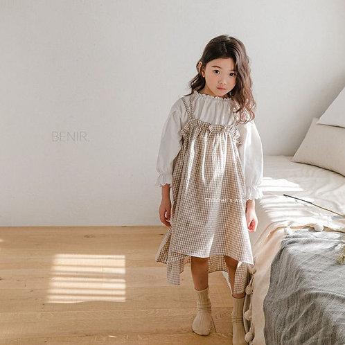 Cotton Midi Dress - Coco Gingham