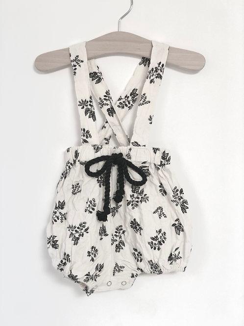 Botanical Suspender Bloomers - Black