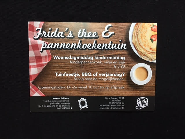 Frida's theetuin flyer