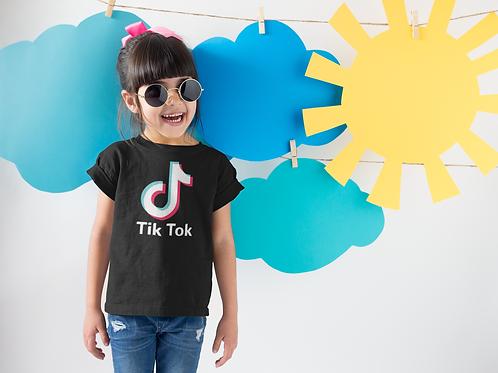 Tik Tok Black T-Shirt
