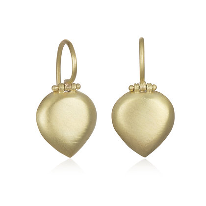 Hinged Pear-Shaped Chiclet Earrings