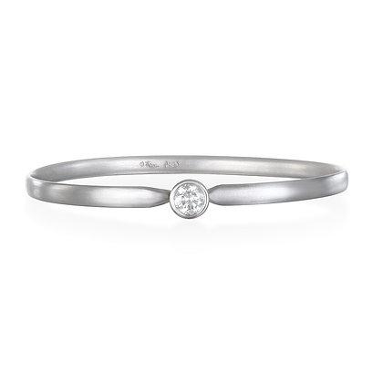 Platinum Diamond Solitaire Bracelet