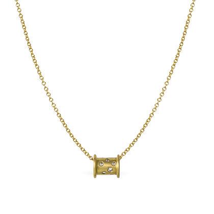 Diamond Spool Necklace