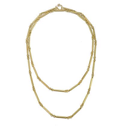 18K Gold Handmade Fob Chain