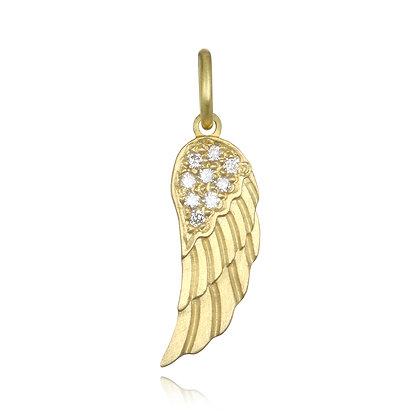 Diamond Angel Wing Charm